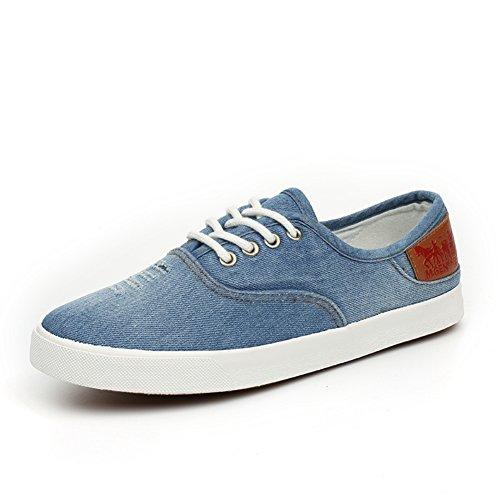 de a lona ayudar de de zapatos mezclilla para casuales zapatos zapatos C baja permeabilidad encaje Sra 5FqpAp