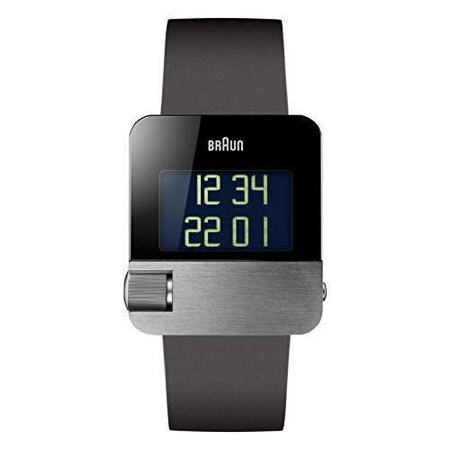 Braun Men's BN0106SLBKG Prestige Digital Digital Display Swiss Quartz Black Watch