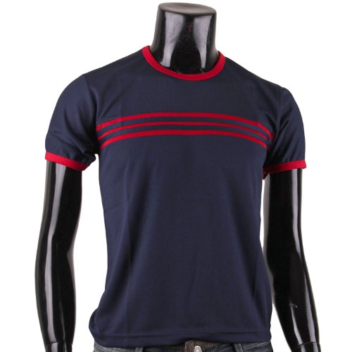 BCPOLO Herren L?ssig Striped T-Shirt 'Navy'