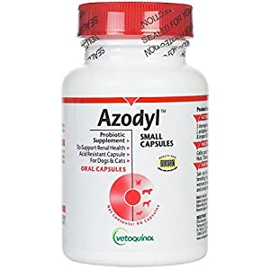 Vetoquinol Azodyl Kidney Health Supplement for Dogs & Cats, 90ct - Probiotic Pet Well-being - Help Support Kidney Function & Manage Renal Toxins - Renal Care Supplement - Easy-to-Swallow Small Caps 46