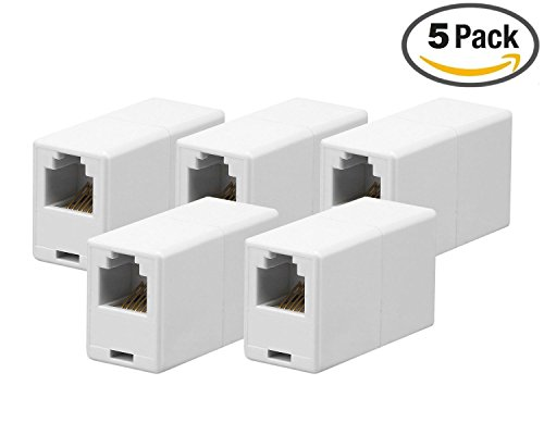 Phone Cord Coupler (iMBAPrice® RJ11 6P6C Straight Telephone Inline Coupler (5)