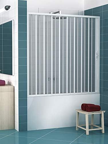 RL Puerta Mampara de bañera 170 CM de PVC Mod. Nina con Apertura Lateral: Amazon.es: Hogar