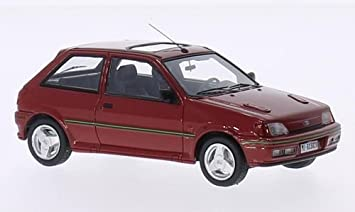 Ford Fiesta RS Turbo MKIII, red, 1989, Model Car, Ready-made