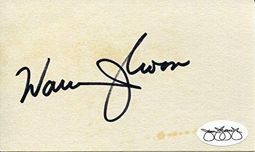 Warren Moon Minnesota Vikings Washington Huskies HOF Signed Autograph JSA Certified NFL Cut Signatures
