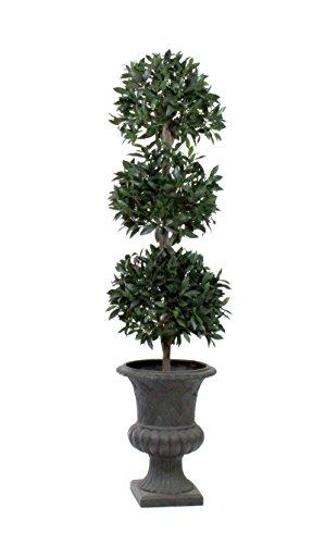 Leaf Ball Topiary (Dalmarko Designs TCO101 3-Ball Bay Leaf Topiary in Urn)