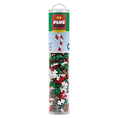 PLUS PLUS – Instructed Tube – 240 Piece Holiday Mix – Construction Building STEM | STEAM Toy, Interlocking Mini Puzzle Blocks for Kids: Toys & Games
