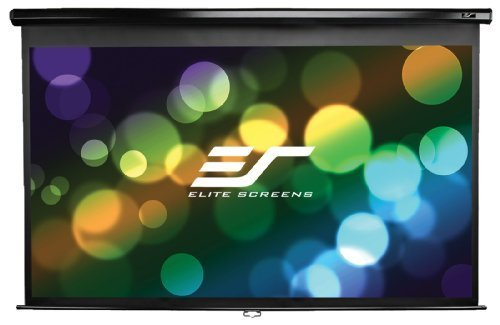 Elite Screens Manual B, 120-inch 16:9, Manual Pull Down Projector Screen 4K / 8K Ultra HDR 3D Ready with Slow Retract Mechanism, 2-YEAR WARRANTY, (Series Motorized Screen)