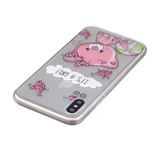 iPhone X Hülle Rosa bär Premium Handy Tasche Schutz Transparent Schale Für Apple iPhone X / iPhone 10 (2017) 5.8 Zoll + Zwei Geschenk