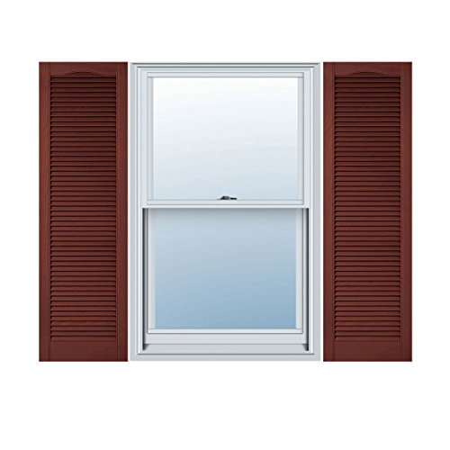 Ekena Millwork LL5C18X05200RD Custom Cathedral Top All Louver, Open LouverShutter (Per Pair)18