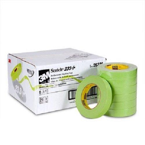"1"" - 1 Case - 3M 26336 Green Masking Tape 1 Inch 233+"