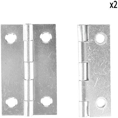 30 x 50 mm Set of 2 Grey COGEX 85310 Metal Hinges