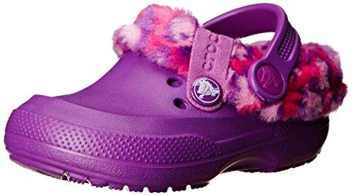 (crocs 16014 Blitzen II Animal Prt Clog (Toddler/Little Kid),Amethyst/Candy Pink,6 M US Toddler)