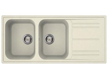 SMEG Lavello LZ116P 2 Vasche con Gocciolatoio Dimensioni 116 ...