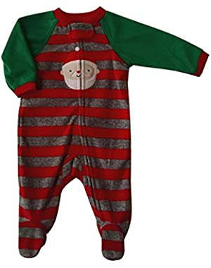 Carters Infant Boys Santa Claus Christmas Fleece Blanket Sleeper