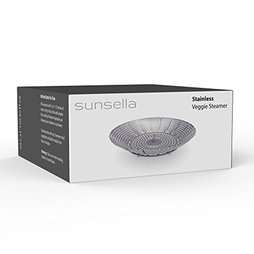 100% Stainless Steel Vegetable Steamer Basket/Insert for Pots, Pans, Crock Pots & more. 5.5'' to 9.3'' - Includes bonus Extension Handle.By Sunsella by Sunsella (Image #6)