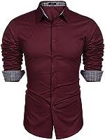 COOFANDY Men's Business Dress Shirt Long Sleeve Slim Fit Casual Button Down Shirt