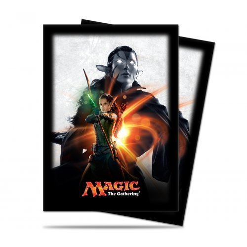 Magic: the Gathering - MTG Magic Origins Planeswalker Nissa Revane Card Sleeves (80 Count) Deck Protectors