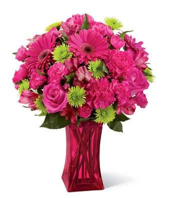 Hot Pink Delight  - Same Day Get Well Soon Flowers Delivery - Get Well Soon Flowers - Get Well Bouquet - Sympathy Flowers - Get Well Soon Presents