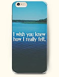 iPhone Case, SevenArc iPhone 6 (4.7) Hard Case **NEW** Case with the Design of I wish you knew how I really felt -...