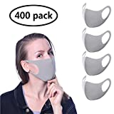 400-pack dust Cover, Grey Washable Anti-Fog Cover