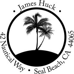 Return Address Labels - Palm Trees Address Label Stamp - Custom Self Inking Stamp ()