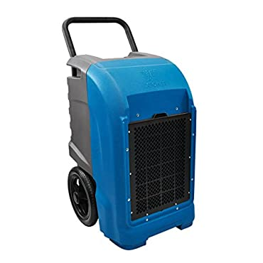 XPOWER XD-125 Industrial Commercial Dehumidifier to Dry basements, Large Rooms, Work Sites- Flood Damage Treatment, Moisture, and Prevent Mold and Mildew- 125-Pints/15-Gallons a Day- Blue