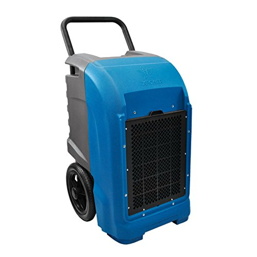 XPOWER XD-125 Industrial Commercial Dehumidifier for basements, Large Rooms, Work Sites- Flood Damage Treatment, Moisture, and Prevent Mold and Mildew- 125-Pints/15-Gallons a Day- Blue