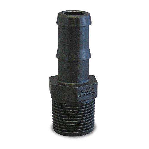 Banjo HB200-150 Polypropylene Hose Fitting, Adapter, 2 NPT Male x 1-1/2 Barbed