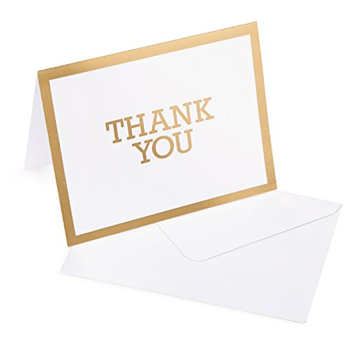 Darice Gold A2 Sized Thank You Cards