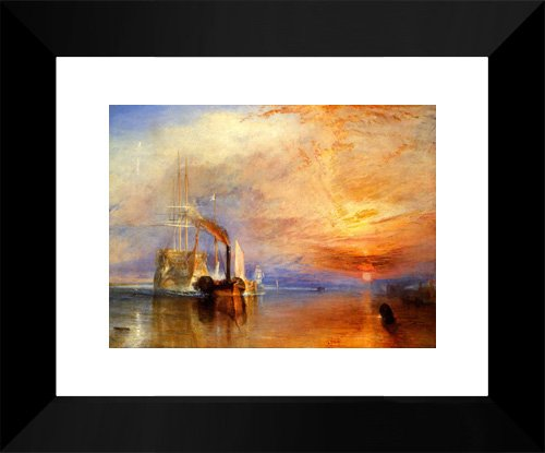 The Fighting 'Téméraire' tugged to her last Berth to be broken up 15x18 Framed Art Print by Turner, Joseph Mallord William (The Fighting Temeraire Tugged To Her Last Berth)
