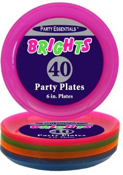 Party Essentials Brights Assorted Neon: 160- 6 inch Plates, 192 Beverage Napkins and 192 Place Settings of Disposable Extra Heavy Duty Full Size Cutlery (576 pieces); Bundled by Oasis MercantileÊ (12) by Party Essentials (Image #4)