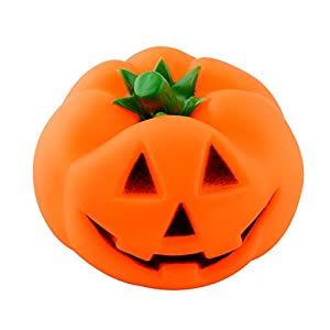 Rubber Squeaky Pumpkin Pet Chew Toys for Dog Puppy Halloween Gift
