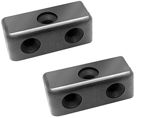 Bulk Hardware BH03417 Modesty Wood & Furniture Jointing Block Connector - Black, Pack of 50 Bulk Hardware Limited