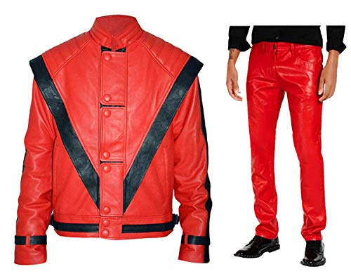 Michael Jackson Thriller Red Leather Costume ()