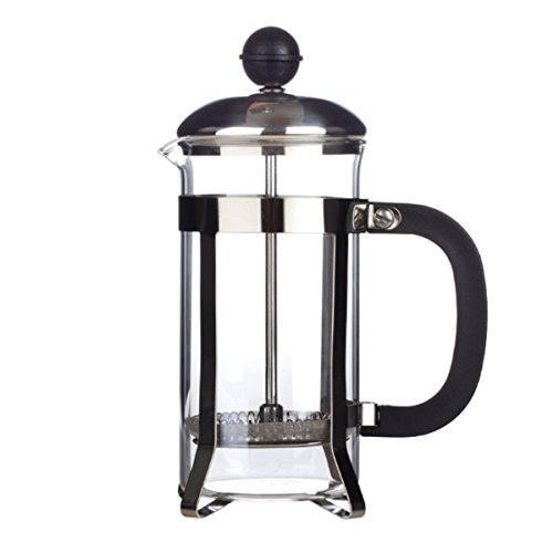 Deal Glass Pot Drinkware & Tea Sets - 350ml Stainless Glass Cafetiere French Filter Coffee Tea Kettle Press Plunger - Toilet Field Umber Dope Mary Glaze Over Deep Brown Weed - 1PCs