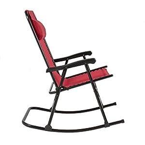 LTL Shop Red Rocking Chair Foldable Rocker Outdoor Patio