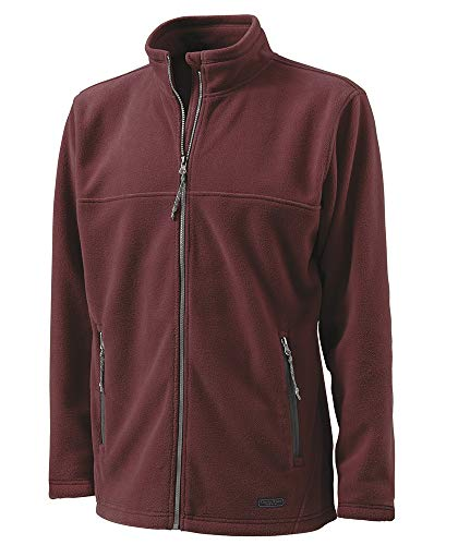 Charles River Apparel Men's Boundary Fleece Jacket, Maroon, XS ()
