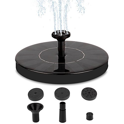 Solar Fountain, Solar Fountain Pump 1.4W Solar Panel Kit Water Pump, Pond, Garden, Fish Tank, Outdoor Submersible Pump (Garden Pond Submersible Pumps Water)