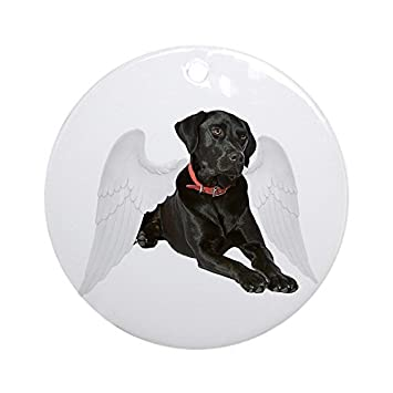 funny ornaments black lab angel round xmas holiday ornaments for kids christmas tree decorations - Black Lab Christmas Decor