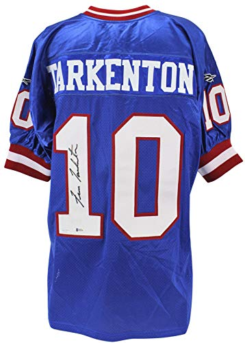 Fran Tarkenton Autographed Jersey - Giants Blue Reebok BAS #H92216 - Beckett Authentication - Autographed NFL Jerseys