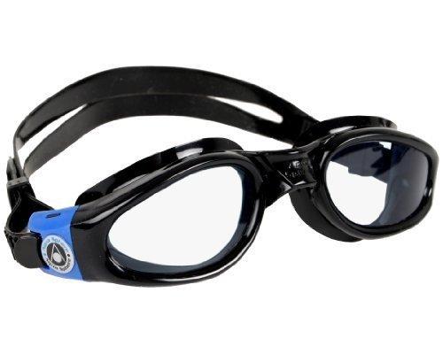 Aqua Sphere Kaiman Swim Goggle, BK-BL Clear Lens