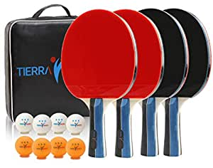 Pleasant Amazon Com Ping Pong Paddles Set Of 4 By Tierra Sports Download Free Architecture Designs Grimeyleaguecom