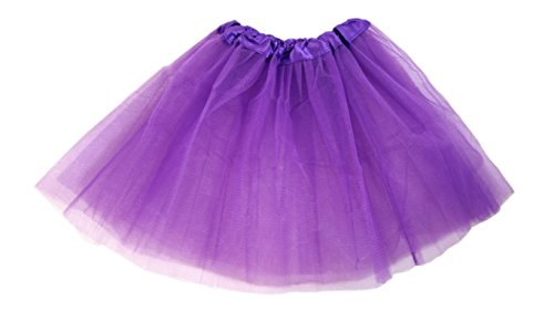 ess Skirt For Girls and Toddlers - Ballerina or Princess Dress Up Pretend Play Costume (Dark Purple) (Dark Purple Tutu)