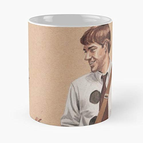 The Office Jim Halpert Pam Beesly And - 11 Oz Coffee Mugs Unique Ceramic Novelty Cup, The Best Gift For Halloween. -