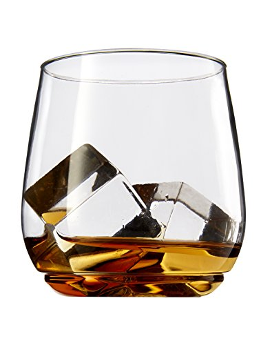 TOSSWARE 12oz Tumbler Jr - recyclable cocktail and whiskey plastic cup - SET OF 12 - stemless, shatterproof and BPA-free whiskey glasses -