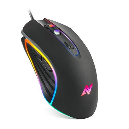 ABKONCORE M30 Gaming Mouse Wired, USB Computer Mice for Game & Daily, 6 Programmable Buttons, Chroma RGB Backlit, 3500…