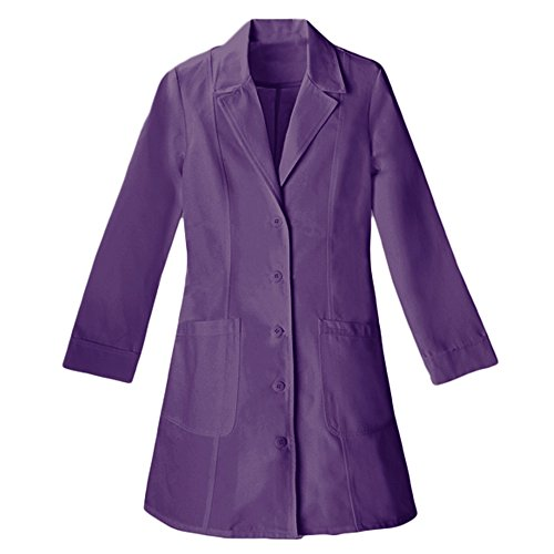 Panda Uniform Made to Order Women's 36 Inches Nursing Long Lab Coat-Purple-M by Panda Uniform (Image #2)