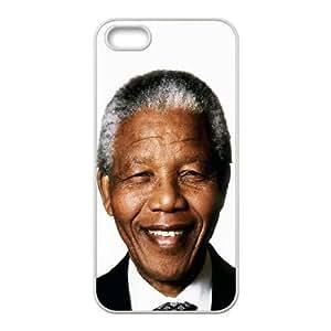 Nelson Mandela Smiling iPhone 4 4s Cell Phone Case White DIY Gift zhm004_6654868