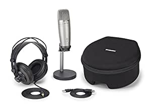 Samson C01U PRO Digital Recording and Podcasting Pack with SR850 Studio Monitoring Headphones