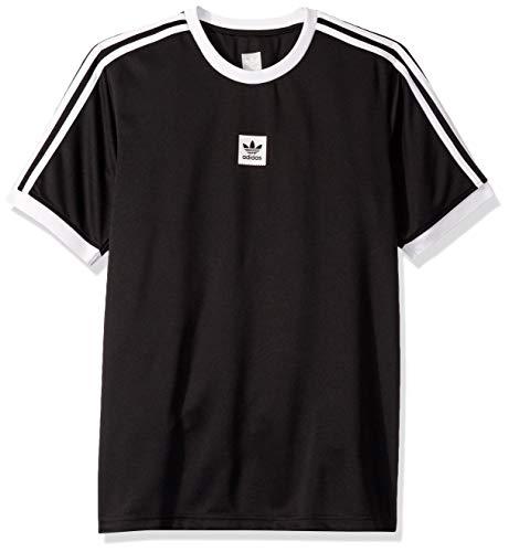 (adidas Originals Men's Skate Club Jersey, Black, Medium)